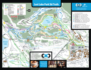 Winter XC ski map Whistler