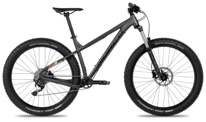 "A brand new model for 2016, the Torrent is Norco's first ever 650B Plus trail mountain bike. Designed from the ground up with Trail geometry, 45mm rims, and 3"" tires, the Torrent is an aggressive hardtail mountain bike with a quick but stable manner that will have riders whooping with joy on flowing singletrack, dominating rocks and roots on technical downhills, and tackling steep, loose climbs with ease. Novice and experienced riders alike will benefit from the increased traction and control of the Torrent."