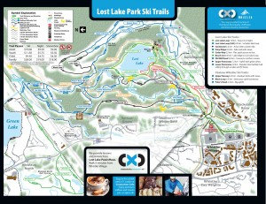 Lost Lake Winter trail map
