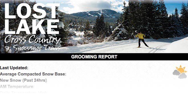 Whistler's Cross Country grooming report